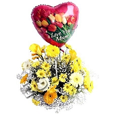 Yellow and Orange Arrangement delivery to Pakistan
