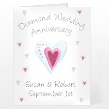 Personalised Diamond Anniversary Card