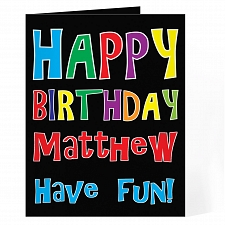 Personalised Happy Birthday Bright Card