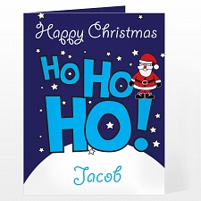 Personalised Ho Ho Ho Santa Card