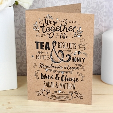 Personalised We Go Together Like... Card delivery to UK [United Kingdom]