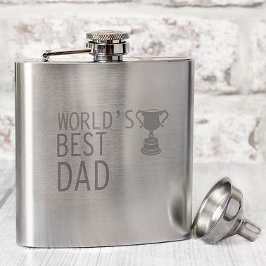 Worlds Best Dad Hip Flask