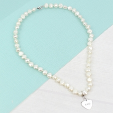 White Pearl Name Necklace delivery to UK [United Kingdom]