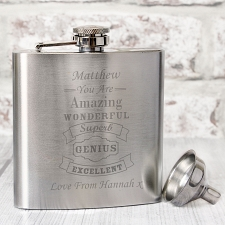 Vintage Typography Hip Flask