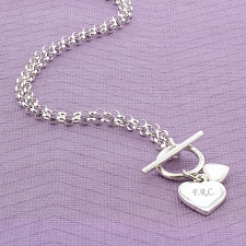 Hearts T-Bar Necklace delivery to UK [United Kingdom]