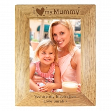 Personalised I Heart My... 5x7 Wooden Photo Frame