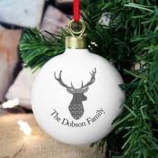 Personalised Highland Stag Bauble