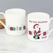 Personalised Santa with Presents Mug Delivery to UK