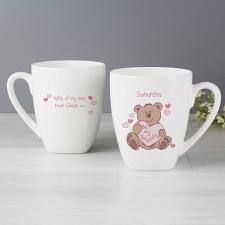 Personalised Be My Valentine Bear Latte Mug