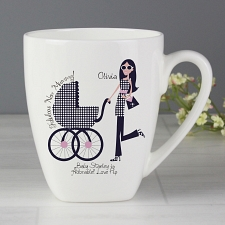 Personalised Fabulous New Mummy Latte Mug