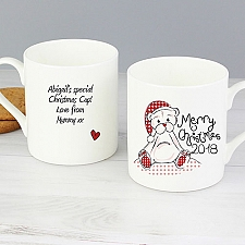 Personalised Cute Teddy Christmas Mug Delivery To UK