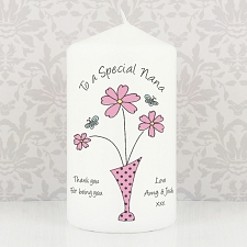 Flower in Vase Message Candle delivery to UK [United Kingdom]