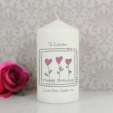 3 Hearts Message Candle delivery to UK [United Kingdom]