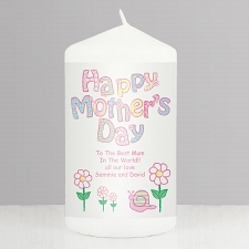 Personalised Daisy Happy Mother's Day Candle