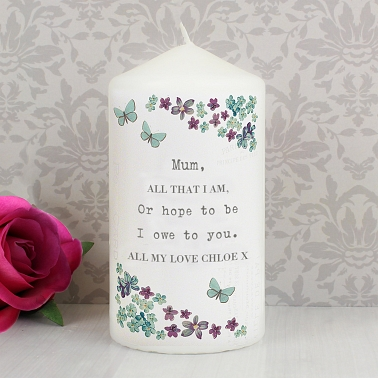 Personalised Forget me not Candle to UK [United Kingdom]