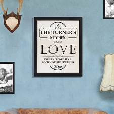 Personalised Full of Love Framed Print UK [United Kingdom]
