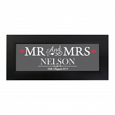 Personalised Mr & Mrs Print in Small Frame UK [United Kingdom]