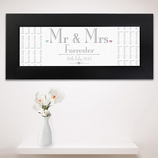 Personalised Decorative Wedding Mr & Mrs Black Name Frame UK [United Kingdom]
