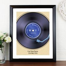 Personalised Retro Vinyl Black Poster Frame UK [United Kingdom]