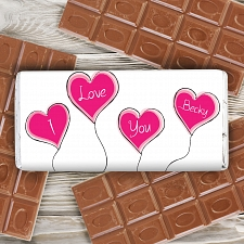 Heart Balloon Chocolate Bar delivery to UK [United Kingdom]
