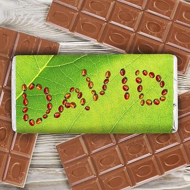 Personalised Ladybird Milk Chocolates Bar