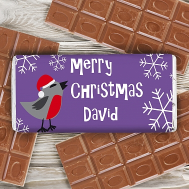 Christmas Robin Chocolate Bar