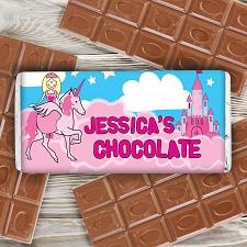 Personalised Princess Milk Chocolates Bar