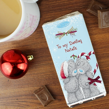 Personalised Me To You Couple Christmas Milk Chocolate Bar