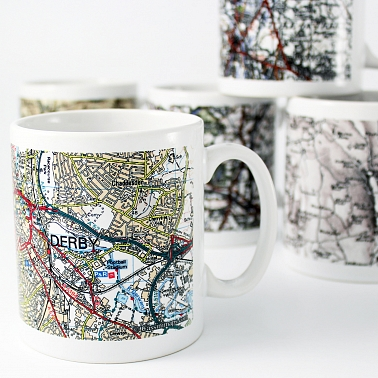 Present Day Edition Map Mug delivery to UK [United Kingdom]