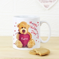 Personalised Teddy Heart Mug