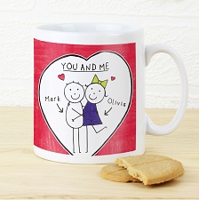 Personalised Purple Ronnie Couples Mug