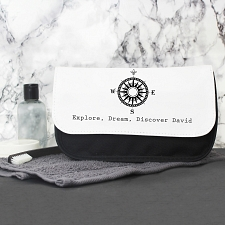 Male Compass Mens Wash Bag
