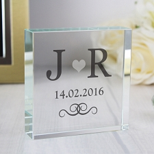 Personalised Silver Monogram Large Crystal Token UK [United Kingdom]