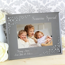 Personalised Any Message 6x4 Glass Photo Frame UK [United Kingdom]