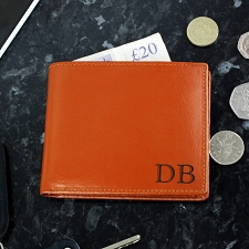 Brown Initials Wallet