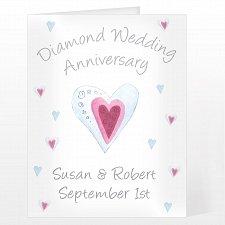 Personalised Diamond Anniversary Card