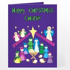 Personalised Nativity Card