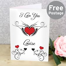 Tattoo Hearts Card delivery to UK [United Kingdom]