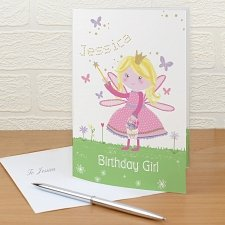 Personalised Garden Fairy Card