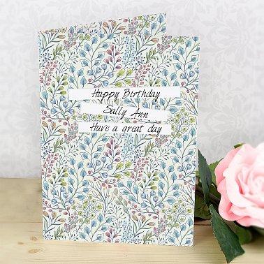 Personalised Botanical Card