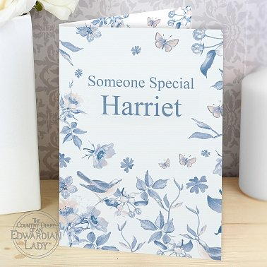 Personalised Country Diary Blue Blossom Card delivery to UK [United Kingdom]