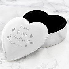Be My Valentine Heart Trinket delivery to UK [United Kingdom]