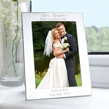 Personalised Silver 5x7 Happily Ever After Photo Frame UK [United Kingdom]