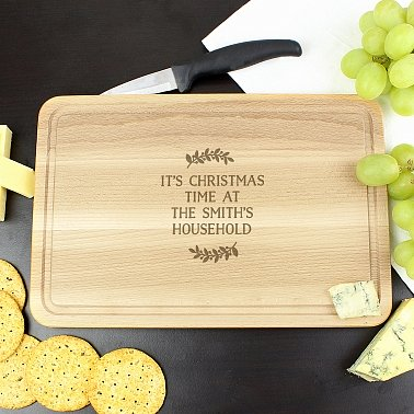 Personalised Wreath Chopping Board
