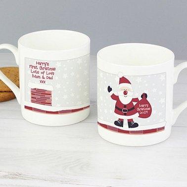 Personalised Roof Top Santa Mug Delivery To UK