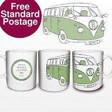 Green Camper Van Mug delivery to UK [United Kingdom]