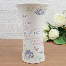 Secret Garden Ceramic Waisted Vase
