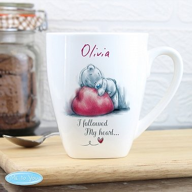 Personalised Me To You Heart Latte Mug delivery to UK [United Kingdom]