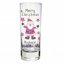 Personalised Spotty Santa Shot Glass