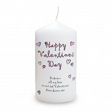 Happy Valentines Day Candle delivery to UK [United Kingdom]